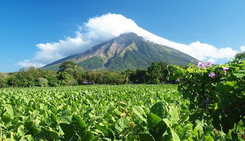 A volcano mountain
